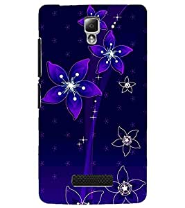 PrintDhaba Floral Pattern D-1237 Back Case Cover for LENOVO A2010 (Multi-Coloured)