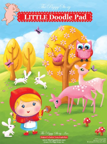 Piggy Story Little Doodle Pad, Little Rosy Red - 1