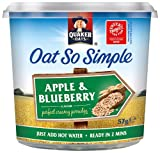Quaker Oat So Simple Express Pot Apple and Blueberry Porridge 57 g (Pack of 8)