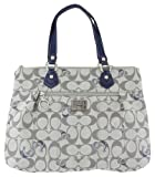 51wJt%2BcpWgL. SL160  Authentic Coach Poppy Signature Glamour Tote Bag 18711 Grey Blue