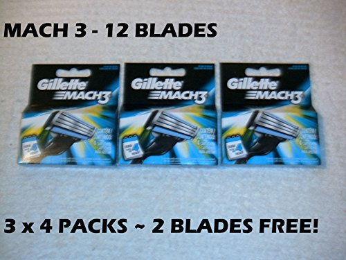 Gillétte Mach 3 Razor Refill Cartridges 10-Count (Packaging may vary) (Mach 3 Razor Cartridges compare prices)
