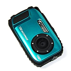 PowerLead Gapo G051 2.7 Inch LCD Cameras16 MP Digital Camera Underwater 10m Waterproof Camera+ 8x Zoom(blue)