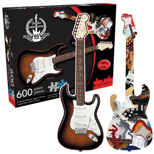 Aquarius Fender- Stratocaster 2 Sided Shaped Puzzle