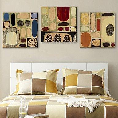 xf gespannte leinwand print kunst abstrakt colorful pflastersteinen set von 3. Black Bedroom Furniture Sets. Home Design Ideas