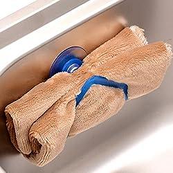 LussoLiv Kitchen Dishcloth Spong Holder Rack Clip Suction Sink Holder Kitchen Tool