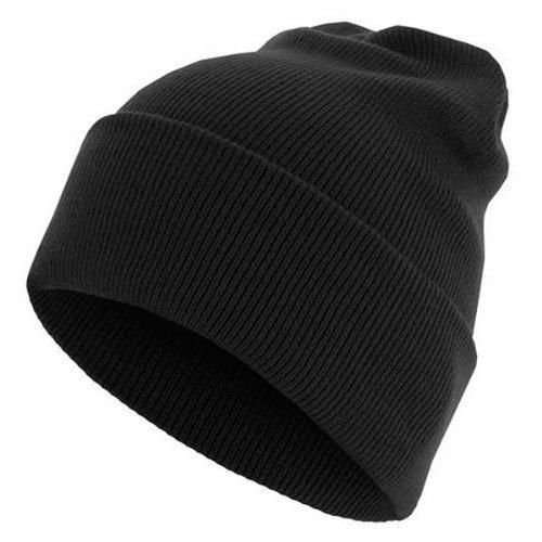 Beanie Basic Flap Long Version black