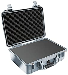 Pelican 1500 Case with Foam for Camera - Silver