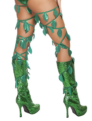 Roma Costume Women's Green Leaf Thigh Wraps,