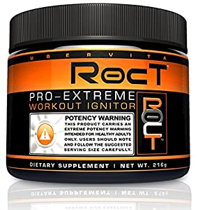 Ubervita Roct Pro Extreme Workout Ignitor Thermogenic Energy Extreme Supplement Powder