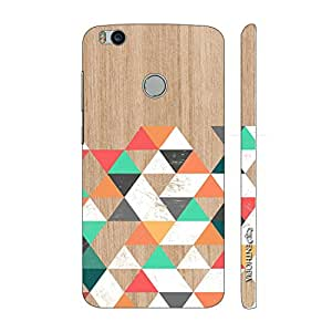 Enthopia Designer Hardshell Case Wooden Coloured Triangle 1 Back Cover for Xiaomi Mi 4s