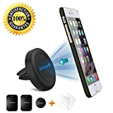 Air Vent Car Mount Cell Phone Holder, JEBSENS CA02 Magnetic Air Vent Car Mount, Portable Universal Car Cell Phone GPS Holder Mount, Apple iPhone 6 / 6 PLUS (5.5″) Note 4 with FREE Anti-Scratch Film