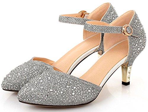 Littleboutique Vintage Mid-heel Metallic D¡¯Osay Pumps Bridesmaid Shoes Evening Dress Heels Wedding Shoes 1
