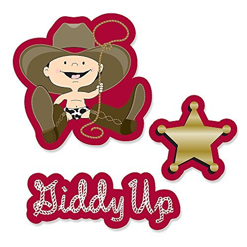 Little Cowboy - DIY Shaped Party Cut-Outs - 24 Count