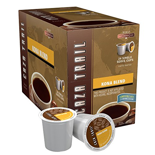 Caza Trail Coffee, Kona Blend, 24 Single Serve Cups