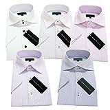 (グリニッジ ポロ クラブ) GREENWICH POLO CLUB スリムS-半袖 pe 5枚セット ワイシャツセット yシャツ ボタンダウン ホリゾンタル 形態安定 クールビズ ワイシャツ ビジネス 白 メンズ