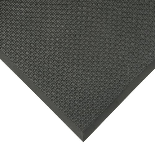 "NoTrax T17 Superfoam Safety/Anti-Fatigue Floor Mat, for Dry Areas, 3' Width x 3' Length x 5/8"" Thickness, Black at Sears.com"