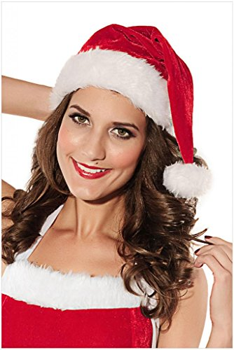 QinYing Adult Christmas Party Costumes Headwear Red Santa Hats Buy 3 get 1 Free