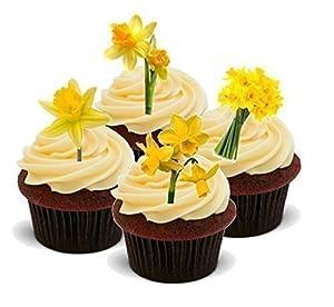 Decoración Pastel Flor Primavera Semana Santa 12 Soportes Comestibles Premium Oblea 2 x A5 Hojas 12 imágenes   Más información y revisión del cliente