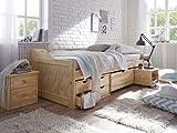 Holzbett-90x200-mit-Schubladen-CRAVOG-lackiert-Massivholz-Kinderbett-mit-Bettkasten-fr-Kinder