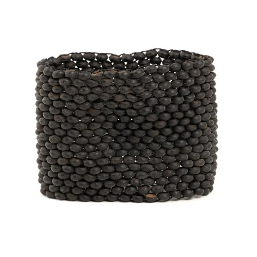 New black bead strand stretch wood coco bracelet by 81stgeneration