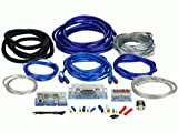 Raptor PKBL4 2000 Watt Installation Prem 4 Gauge Blue / Silver /RCAs Amplifier Kit