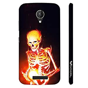 Micromax Canvas Spark Q380 Magic by Skeleton on Fire designer mobile hard shell case by Enthopia