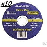 """CUTTING DISCS 10 GRINDER 41/2"""" THIN STEEL / STAINLESS"""