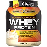2lbs Body Fortress Super Advanced 60 Gram Whey Protein Creatine Glutamine Optimum Muscle Gain Fitness Blend Powder (Choose From 5 Flavors!) (VANILLA)
