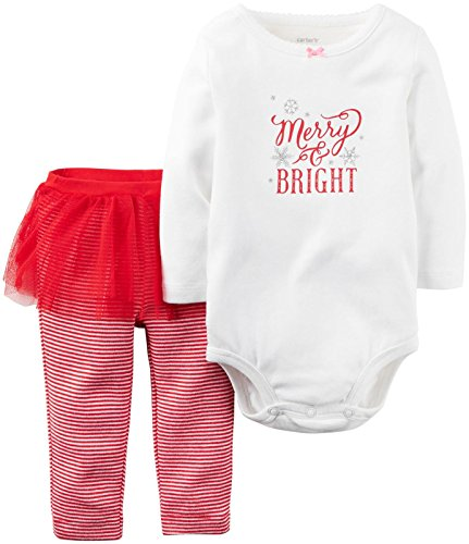 Carter's Baby Girls 2 Pc Sets, Red, 18M