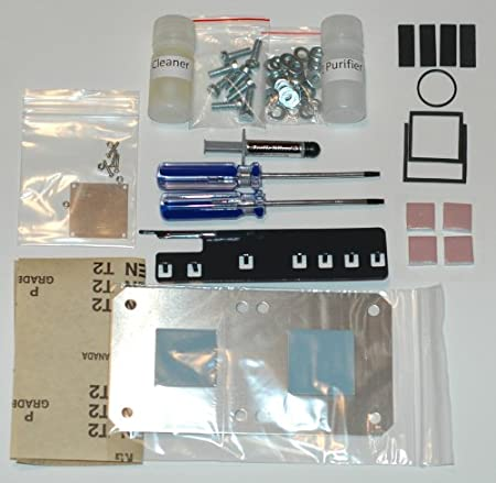 XBOX 360 Repair Kit Extreme Uniclamp Hybrid Fix X-Clamp Replacement Complete Kit Arctic Silver 5 GPU CPU Shims DVD Drive Belt DVD Drive Pads Extra Strong Powdercoated Open Tool (Official Version)