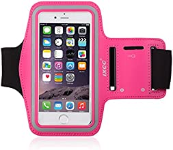 [Apple New iPhone 6 (4.7-inch) Armband] iXCC ® Racer Series Easy Fitting [Sport Gym Bike Cycle Jogging Running] Armband - Featured with Sweat Proof, Dual Arm-Size Slots and Key Pocket [Pink]