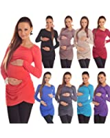 New Maternity Asymmetric Neck Top Tunic Pregnancy Size 8 10 12 14 16 18 6053 Variety of Colours