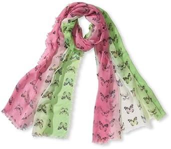 Codello Damen Schal, All over Druck 31013704-21 Schmetterlinge, Gr. one size, Pink (dark pink)