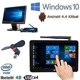 Plater @ PIPO X9 8.9 inch Dual Boot Smart TV Box Mini PC Windows 10 Android 4.4 Intel Z3736F Quad Core 2.16GHz 2G+32G Media Player Device + Free USB Mini Fan
