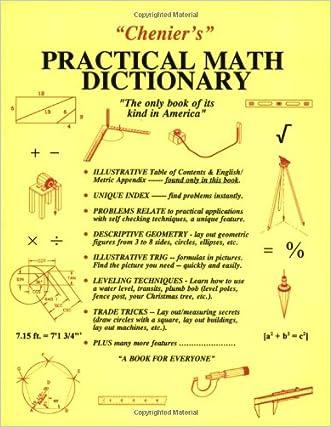 Chenier's Practical Math Dictionary written by Norman J. Chenier