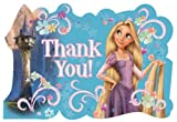 Tangled Rapunzel Thank You Postcards Disney Princess Birthday Party Card (8)