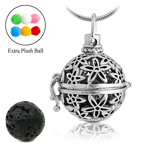 lava-stone-aromatherapy-essential-oil-diffuser-necklace-pendant-locket-antique-silver-with-24-snake-