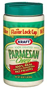 Kraft Grated Parmesan, 16-Ounce Plastic Canister (Pack of 3)