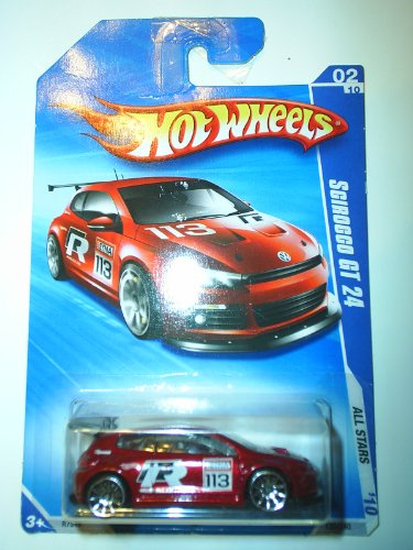 2010 Hot Wheels All Stars (02/10) Cherry Red Scirocco GT 24 #120/240