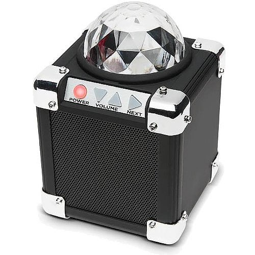 Ion Isp43 Rock Block Led Ultra-Compact Bluetooth Speaker With Built-In Party Lights