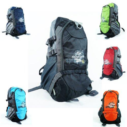 Internal Frame Backpack Shoulder Bag Camping Hiking Trekking Bag Canvas Pack front-112021