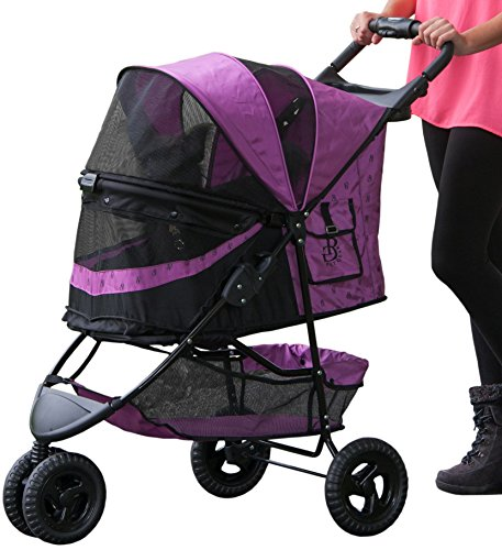 Pet Gear No-Zip Special Edition Pet Stroller, with Zipperless Entry, Orchid