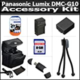 Accessory Kit For The Panasonic Lumix DMC-G10 DMC-GF1C DMC-GH1 DMC-G1 DMC-G2 Digital Camera Includes 8GB High Speed SD Memory Card + 2.0 USB Card Reader + Extended Replacement DMW-BLB13 (1500 mAH) Battery + Ac/Dc Rapid Travel Charger + Case + More