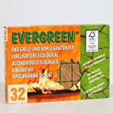 Evergreen Öko-Grill-Kohleanzünder, 32 Würfel, Kohlenanzünder
