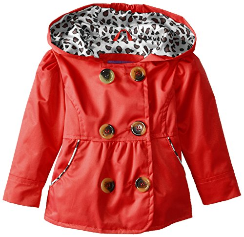 Pink Platinum Baby Girls' Double Breasted Trench, Red, 24