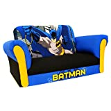 Kids Batman Deluxe Sofa - Blue/Black