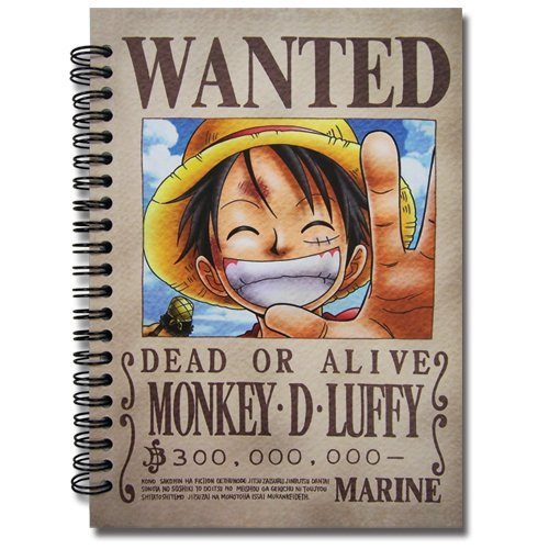One Piece Luffy Wanted Poster Notebook - 1