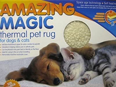 AMAZING MAGIC THERMAL PET RUG DOGS CATS SELF HEATING WASHABLE TRAVELLING 64 X 46cm FREE SHIPPING