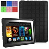 Poetic GraphGrip Case for New Kindle Fire HDX 7 (2013) 7-inch Tablet Black (3 Year Manufacturer Warranty From Poetic)