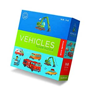 Vehicles Learn 'n Play 36 Piece Boxed Floor Puzzle
